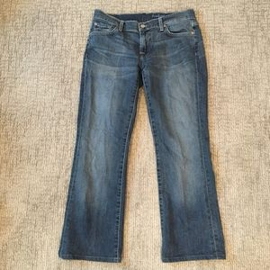 7 For All Mankind Medium Wash Bootcut Jeans 30